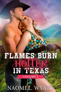 Flames Burn Hotter in Texas – Volume 1: Western Romance / Cowboy Erotica by Naomi L Wyatt