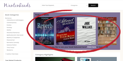 Purchase a featured book placement.