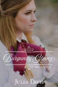 Burgundy Gloves by Julia david