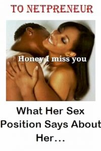 What Her Sex Position Says About Her by Oluwole Samuel Personal